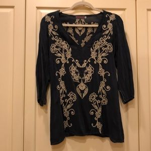 Johnny Was embroidered tunic